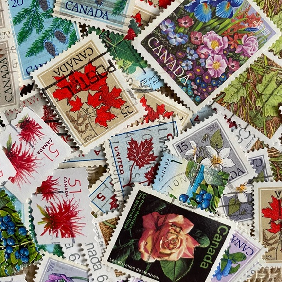 50+ Flower postage stamps